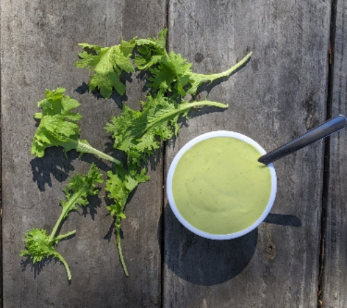 Creamy Mustard Greens Sauce Recipe