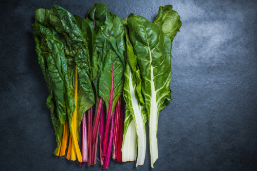 Swiss chard has lots of neon colors!