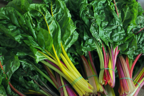 Swiss chard is a great substitute for spinach or kale.