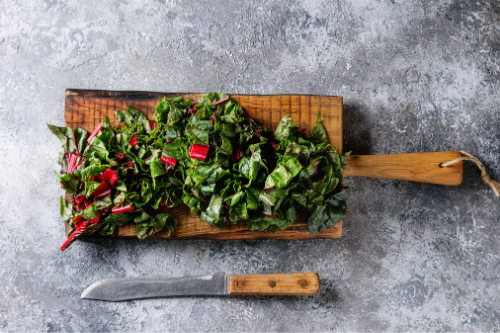 Chop up Swiss chard and throw it in a soup!