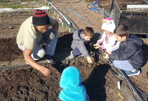 Gardening with kids uses all 5 senses.