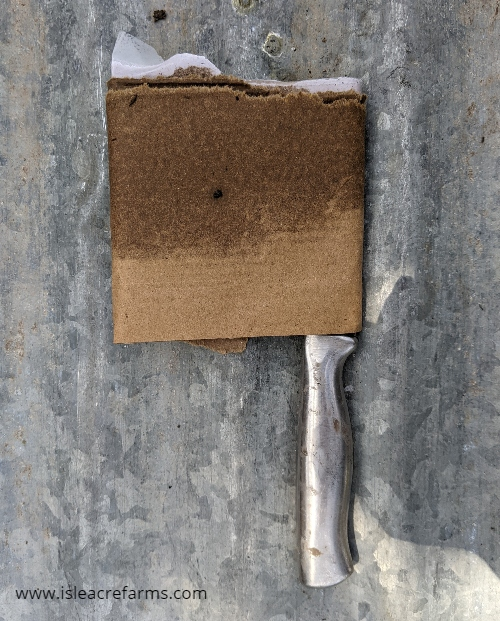 How to use cardboard in your garden: store sharp tools